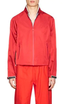 Prada Harrington Tech-Twill Jacket In Red