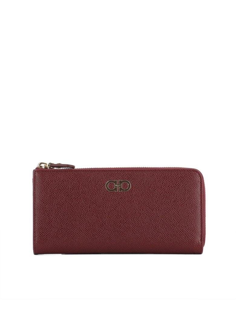 Salvatore Ferragamo Red Leather Wallet