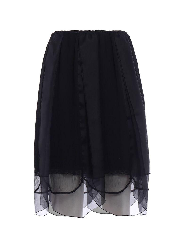 66e5345115 Prada Layered Tulle Slip Skirt In Nero+Nero | ModeSens