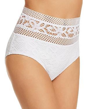 89263c2818 Becca By Rebecca Virtue High-Waist Crochet Bikini Bottoms Women's ...