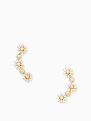 Kate Spade Loves Me Loves Me Not Ear Pins In White
