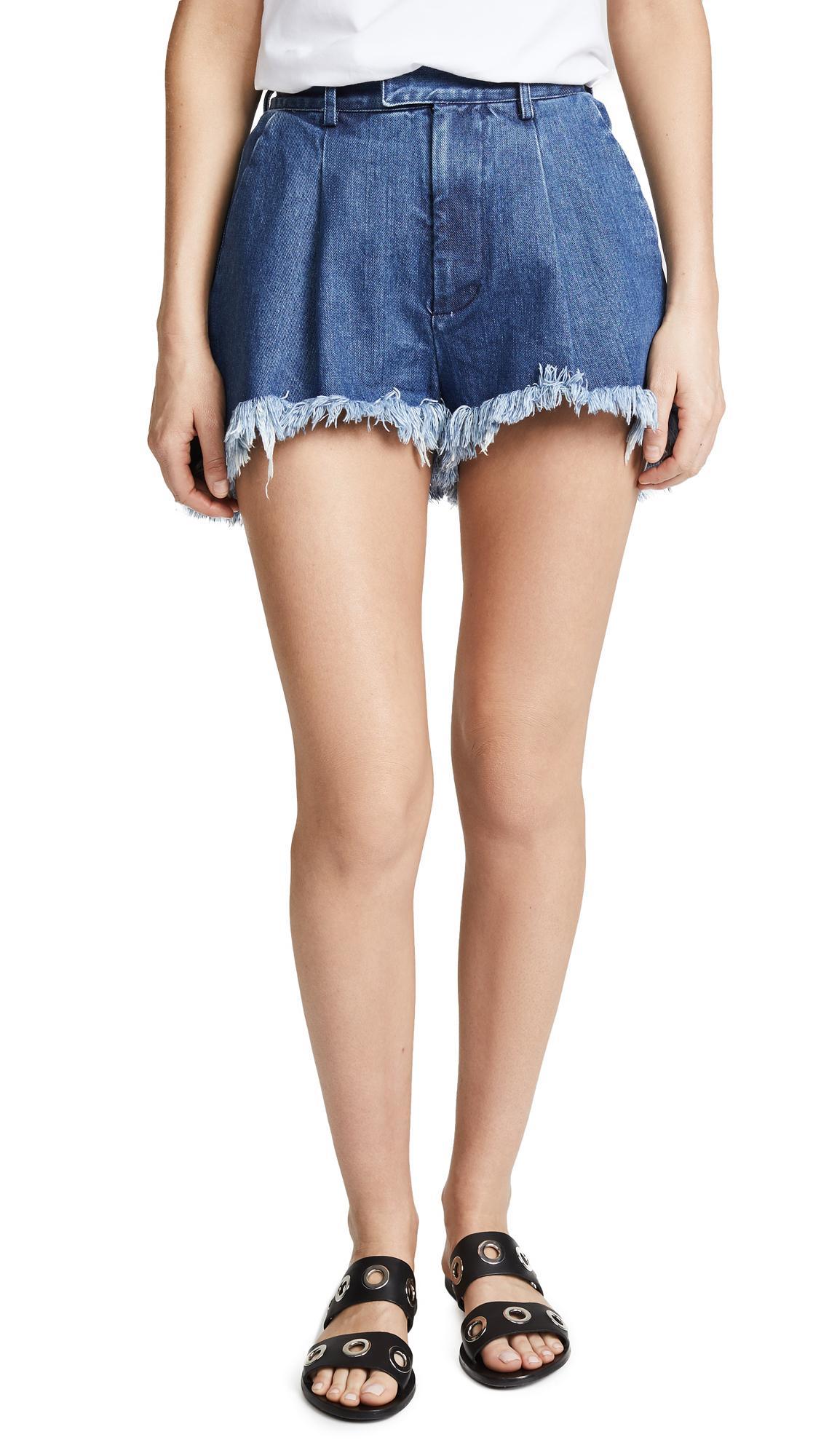 8bdf2b51 Fringe Short Shorts in Medium Blue