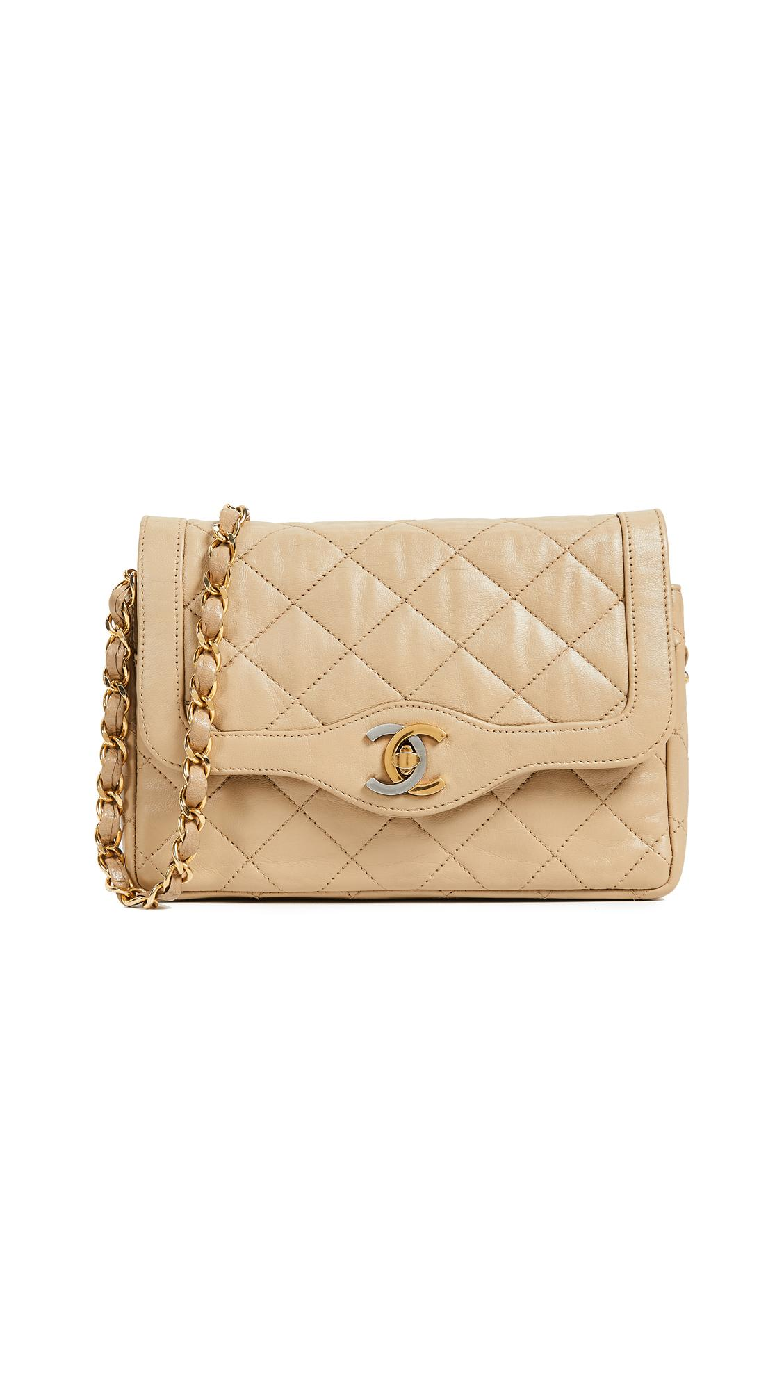fa1aa82757c6 What Goes Around Comes Around Small Chanel Paris Bag In Beige | ModeSens