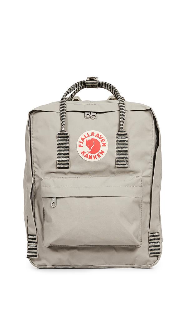 Fjall Raven Kanken Backpack In Fog/striped