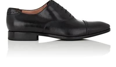 Salvatore Ferragamo Men's Boston Leather Lace-Up Dress Oxford, Black