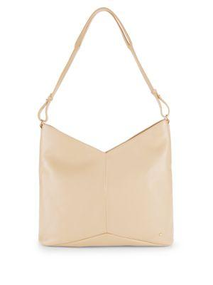 a48e371466 Halston Heritage Woman Pebbled-Leather Shoulder Bag Beige In Desert ...