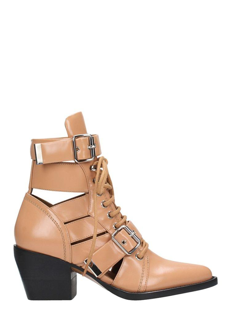 c435e801d4 Rylee Cutout Leather Ankle Boots in Tan
