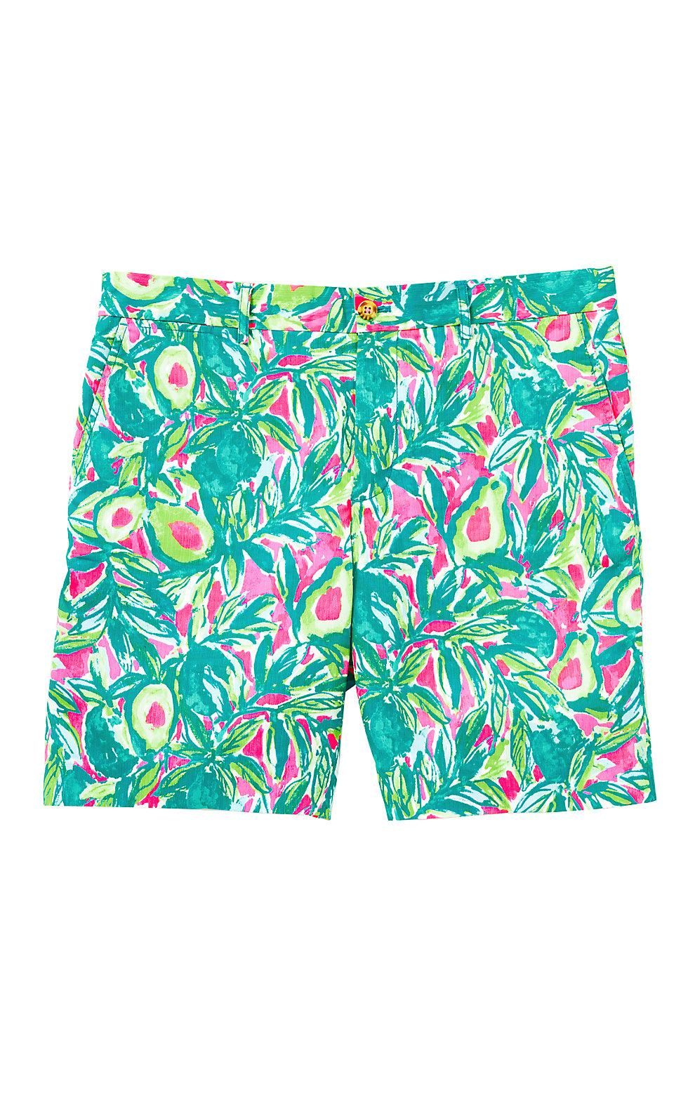 Lilly Pulitzer Mens Beaumont Short In Pink Sunset Guac And Roll
