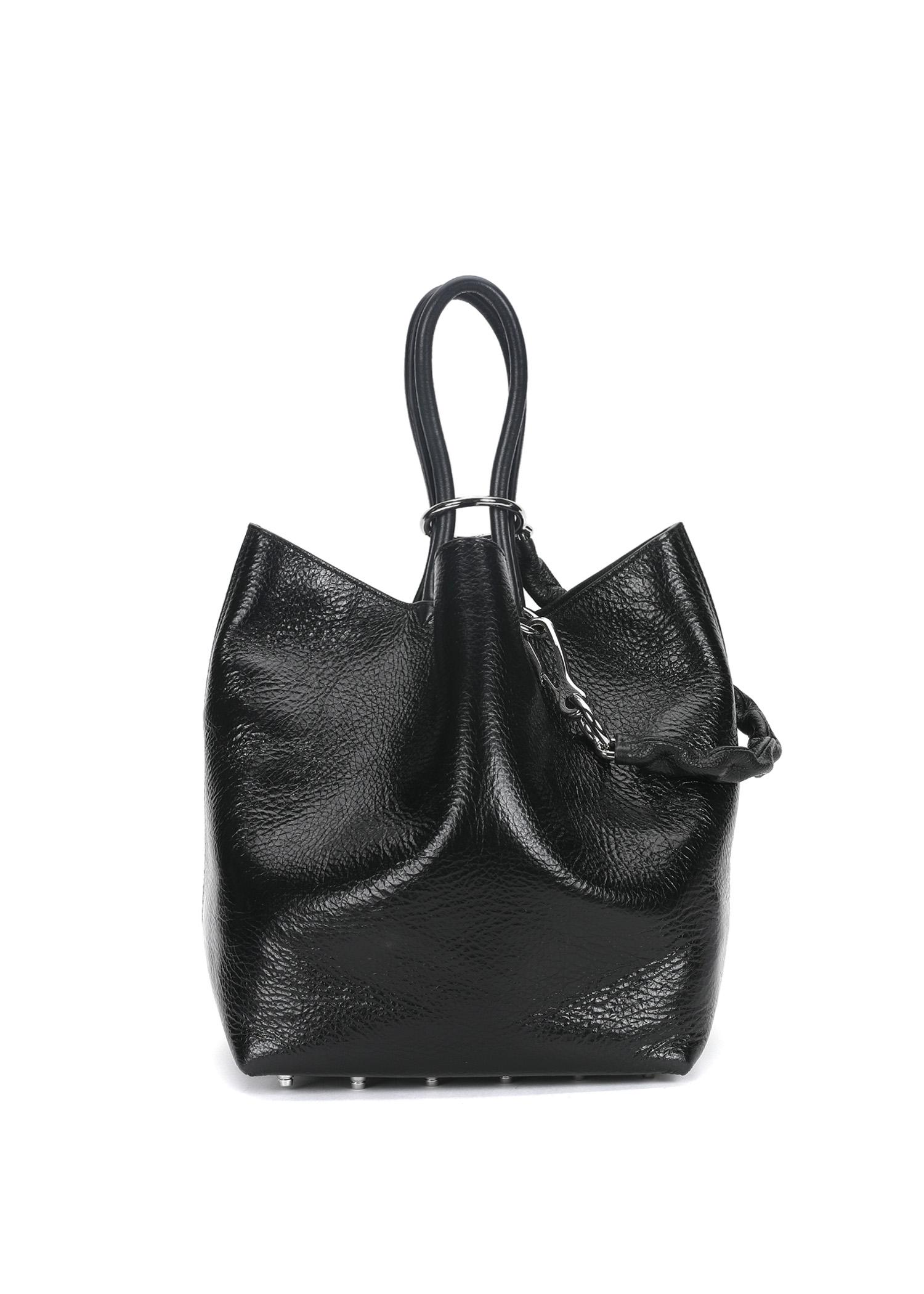 Alexander Wang Roxy Smooth Leather Tote In Black
