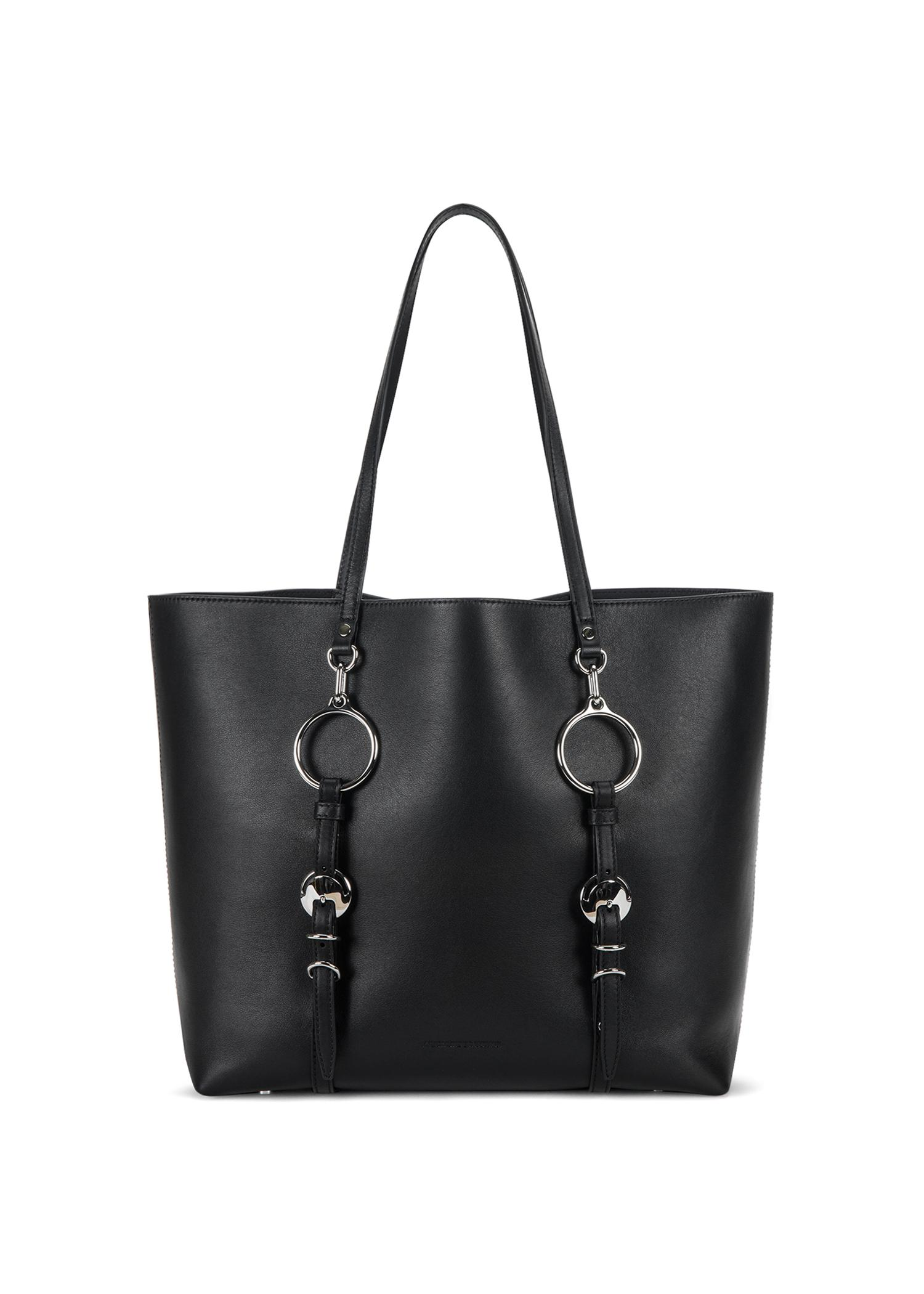 Alexander Wang Ace Leather Tote Bag In Black