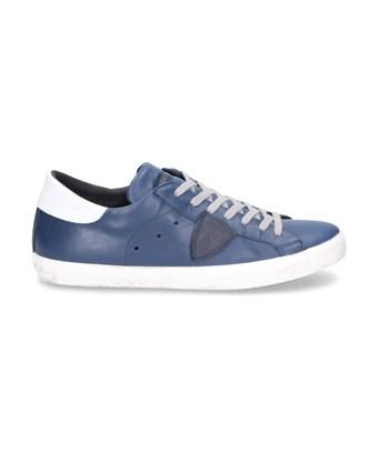 Philippe Model Men's  Blue Leather Sneakers