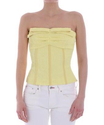 Boutique Moschino Women's  Yellow Cotton Top