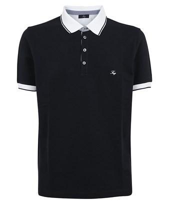 Fay Men's  Blue Cotton Polo Shirt