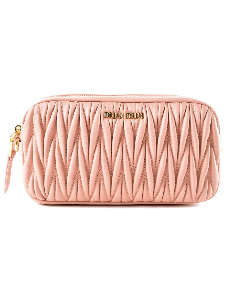 Miu Miu Matelasse Belt Bag In Orchidea