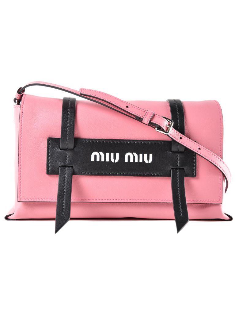 Miu Miu Grace Lux Bag In 14f Begonia+nero