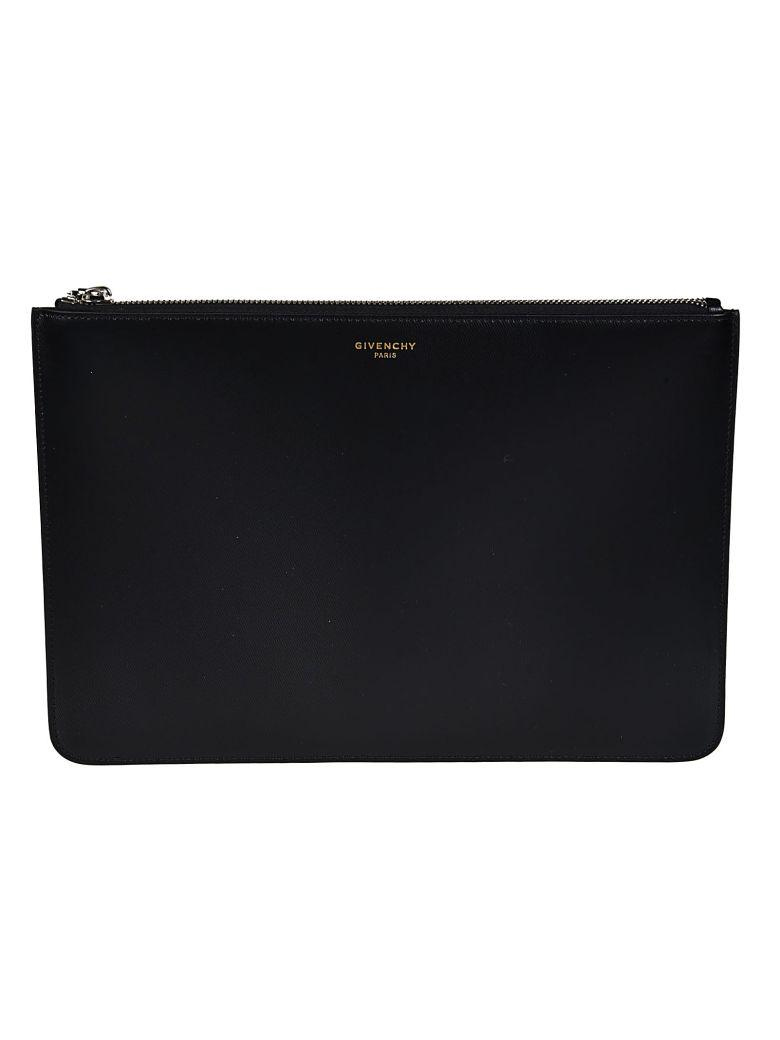 Givenchy Logo Detail Clutch In Black