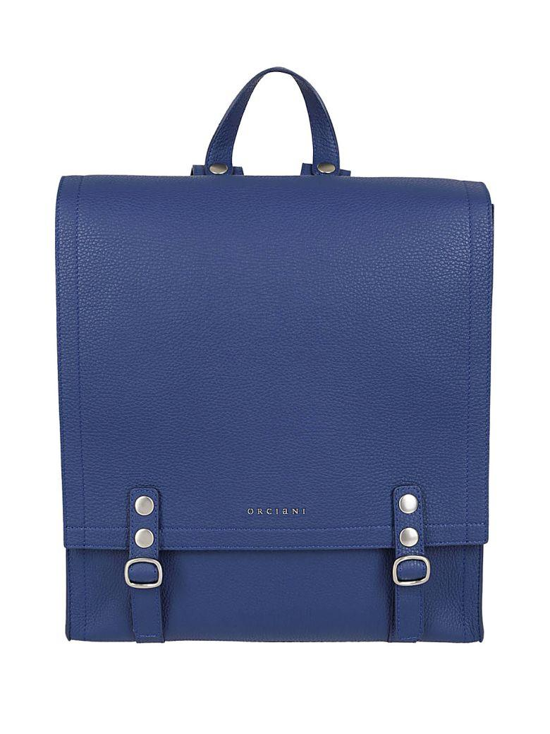 Orciani Logo Backpack In Blue