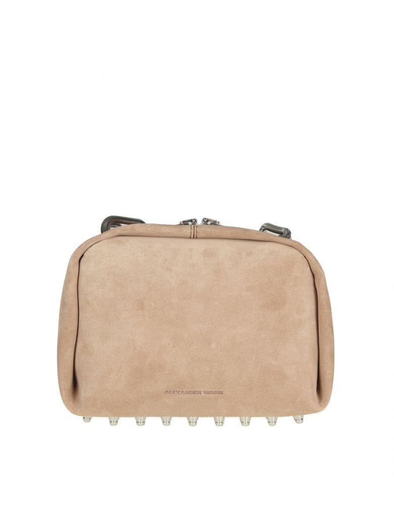 Alexander Wang Shoulder Bag In Suede Color Sand In Sable