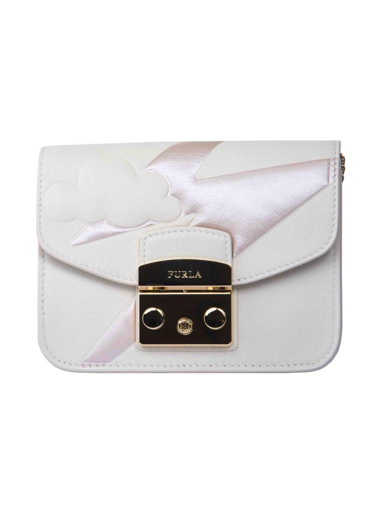 Furla Mini Shoulder Bag In White