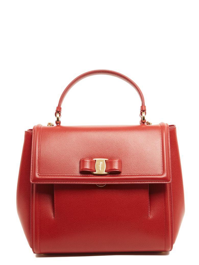 Salvatore Ferragamo Hand Bag In Red