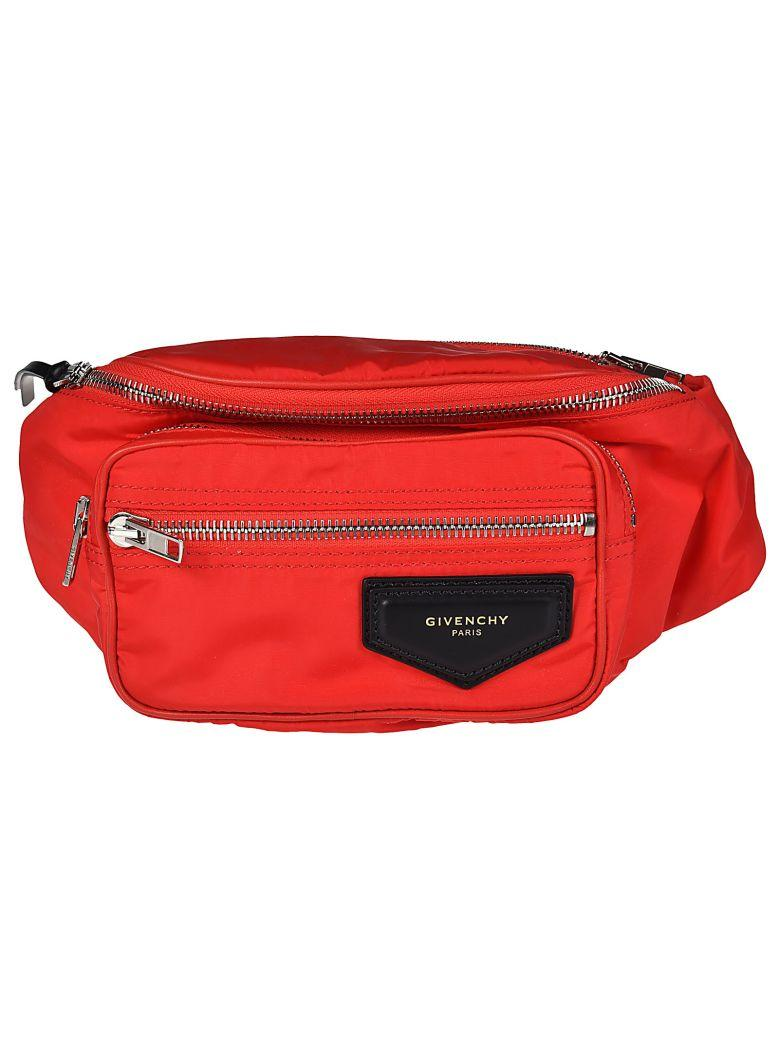 Givenchy Zipped Waist Bag In Red