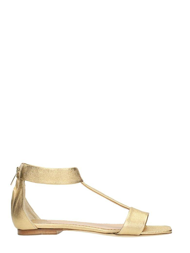 The Seller Wash Gold Calf Leather Sandals