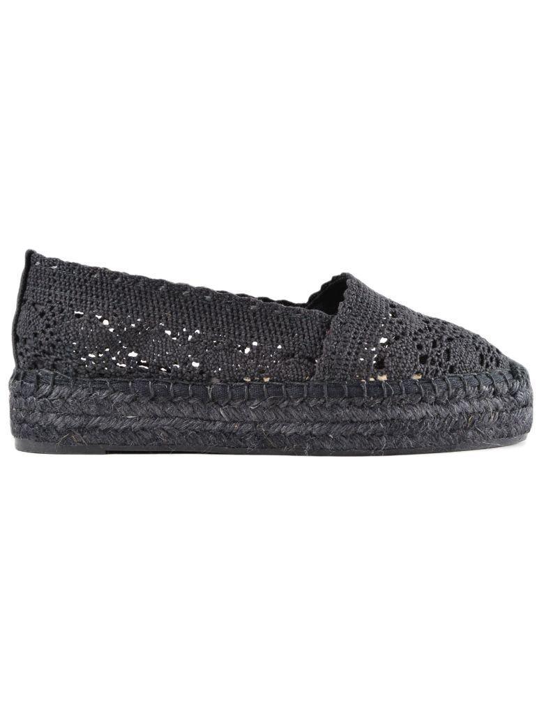 CastaÑer Kenda Crochet Espadrillas In Black