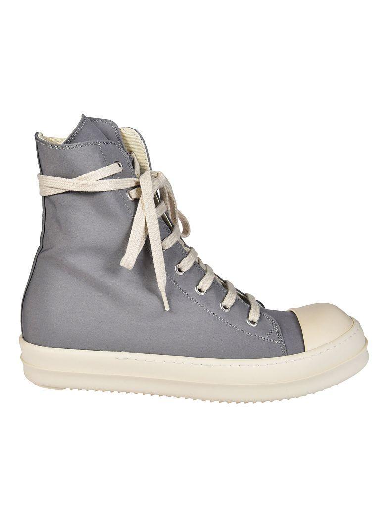 Drkshdw Metallic Zip Hi Top Sneakers In Stone-milk