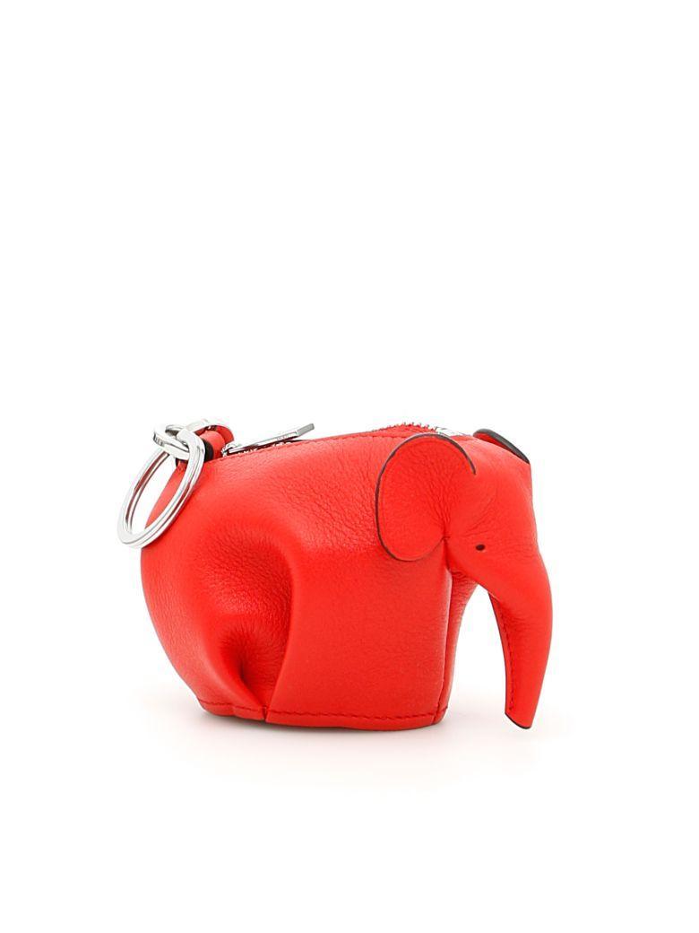 Loewe Elephant Charm In Primary Redrosso