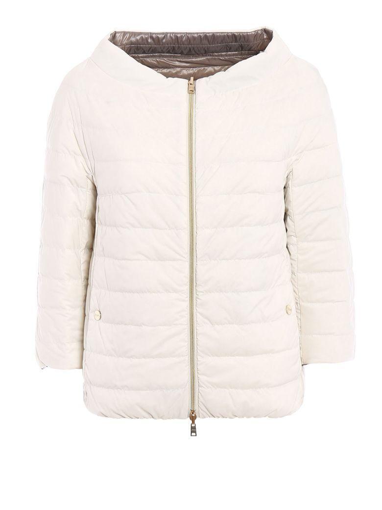 Herno Reversible Padded Jacket In White-turtledove