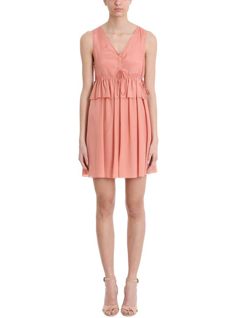 See By ChloÉ Pink Viscose Dress In Rose-pink