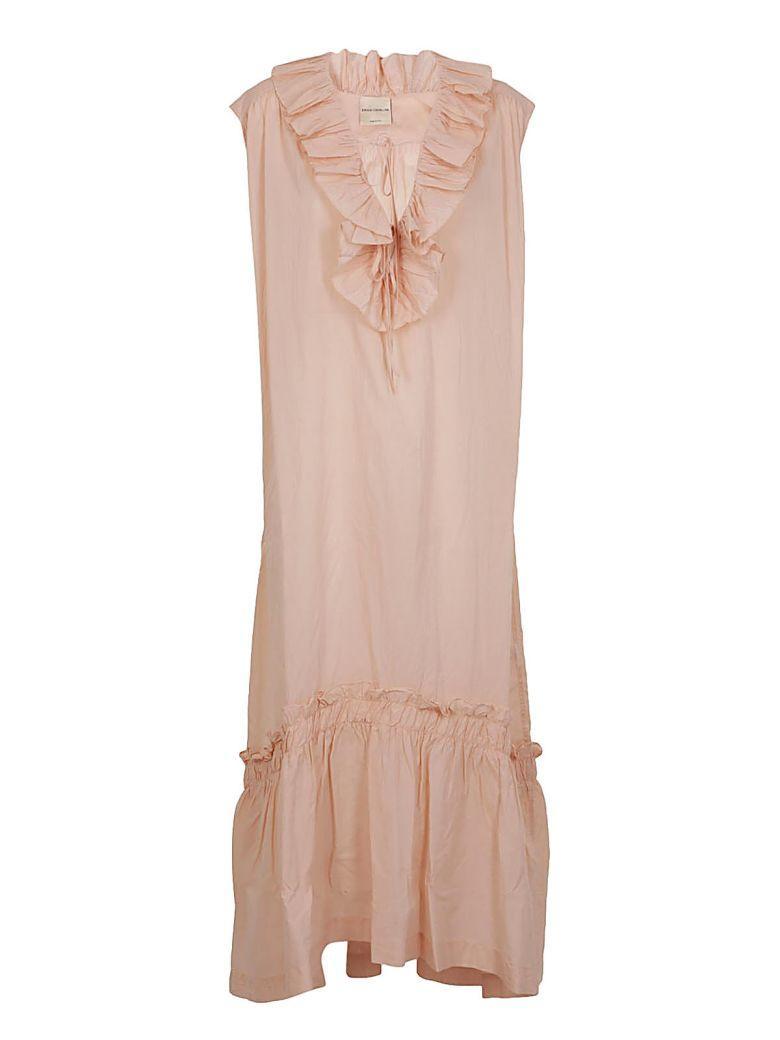 Erika Cavallini Ruffled Dress In Polvere