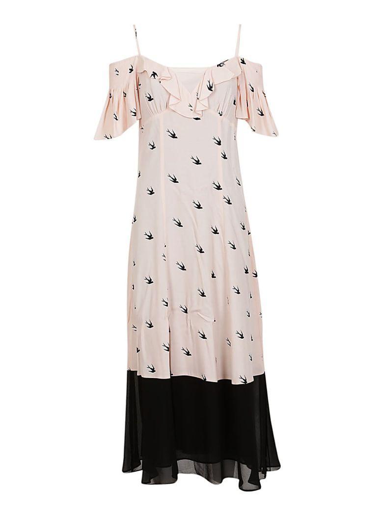 Mcq By Alexander Mcqueen Mcq Alexander Mcqueen Swallow Print Maxi Dress In Pink