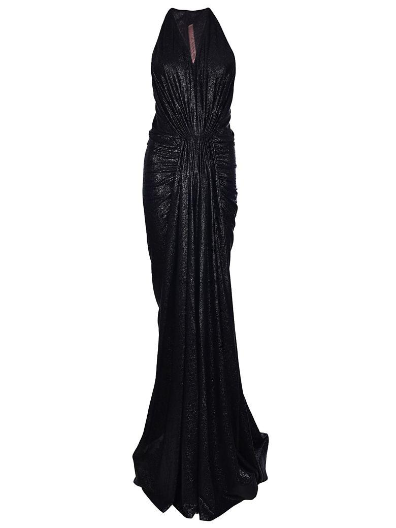 Rick Owens Waterfall Front Dress In Black