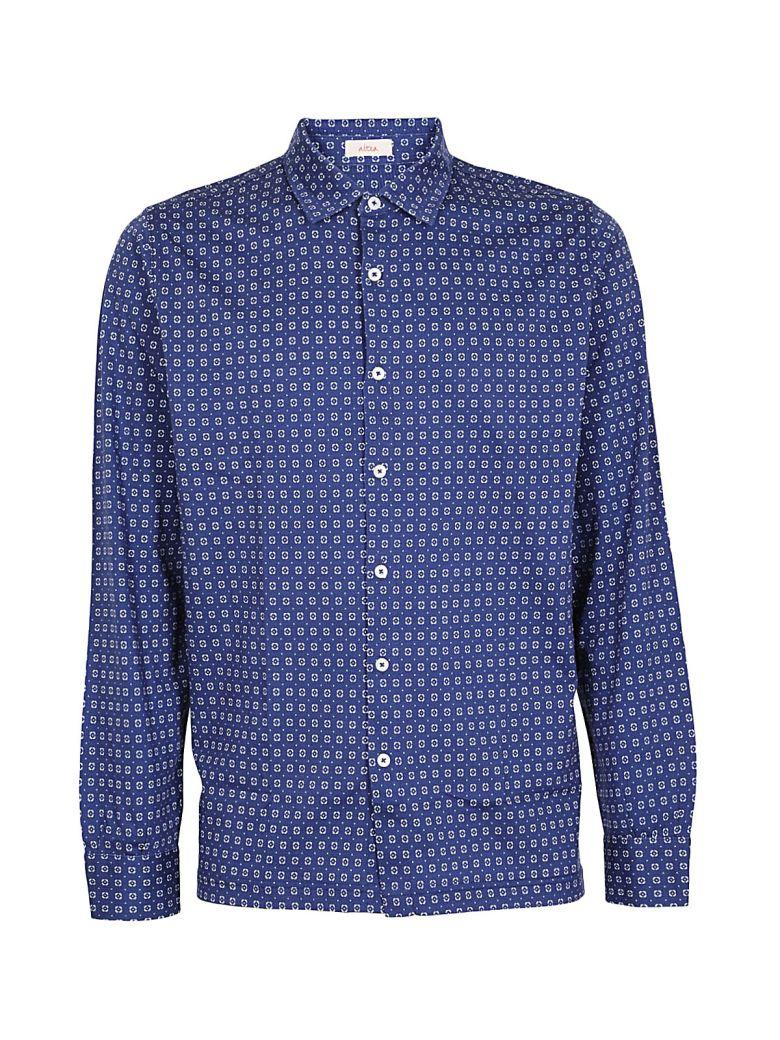 Altea Patterned Shirt In Blu-bianco