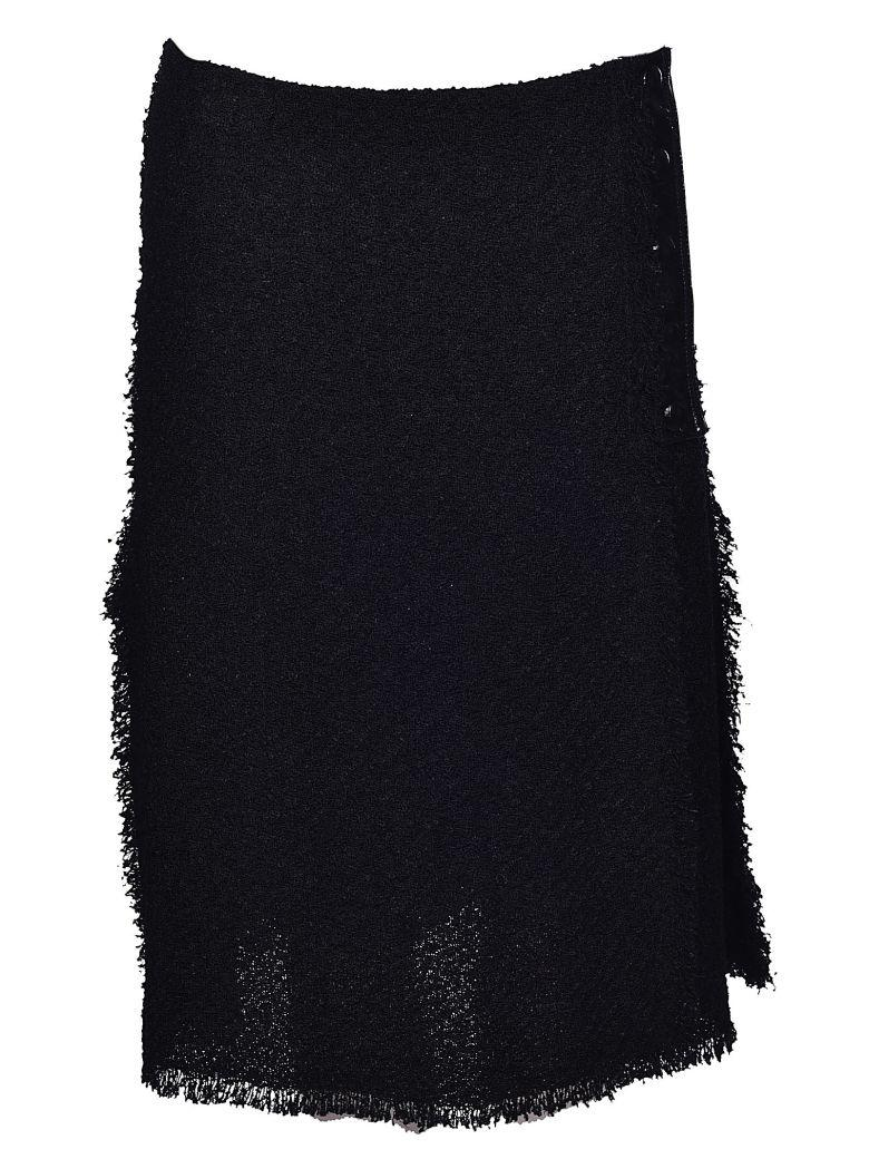 Sonia Rykiel Fringed Skirt In Noir
