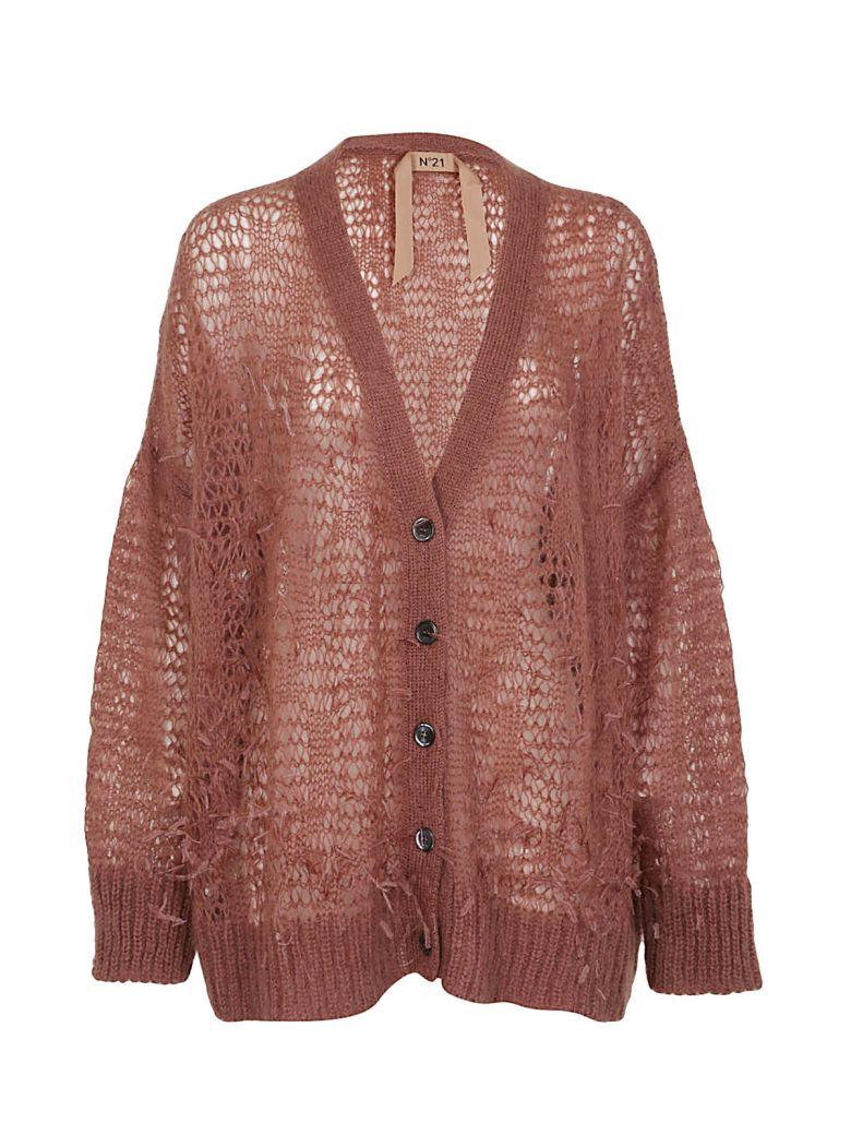 N°21 Embroidered Cardigan In Rose
