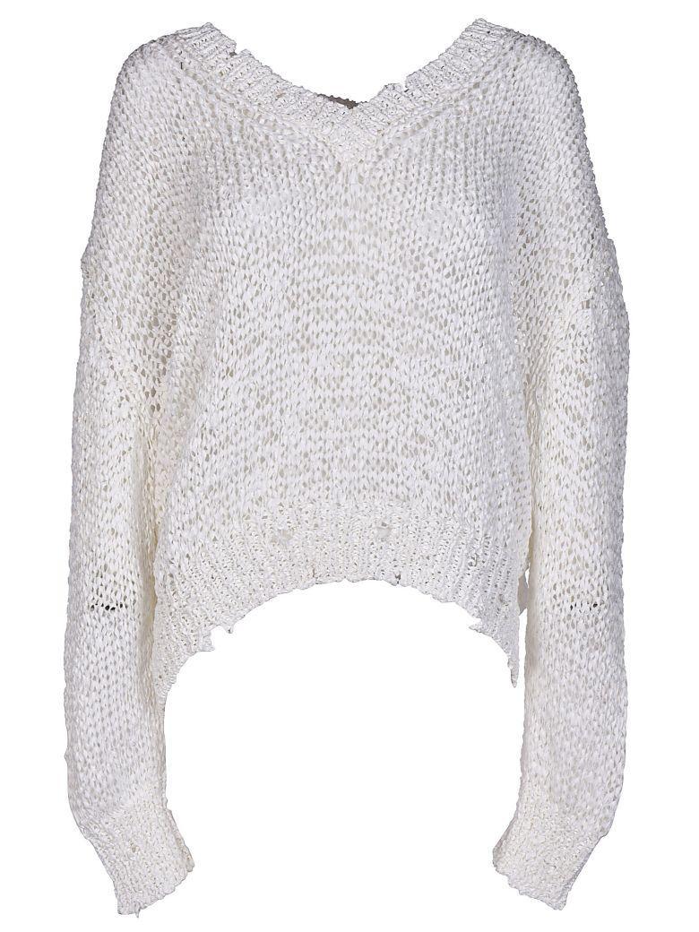Iro V-neck Sweater In White