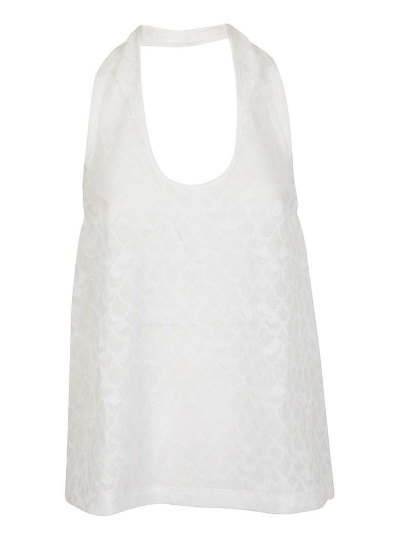 M Missoni Backless Top In White