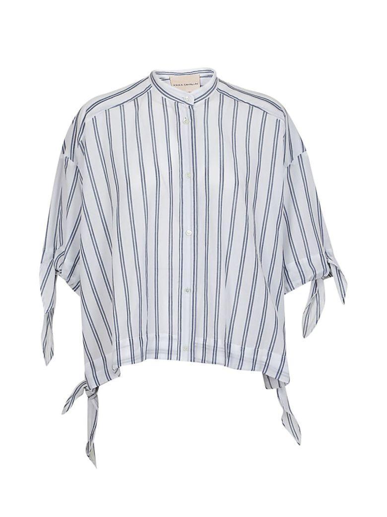 Erika Cavallini Tie Details Top In White