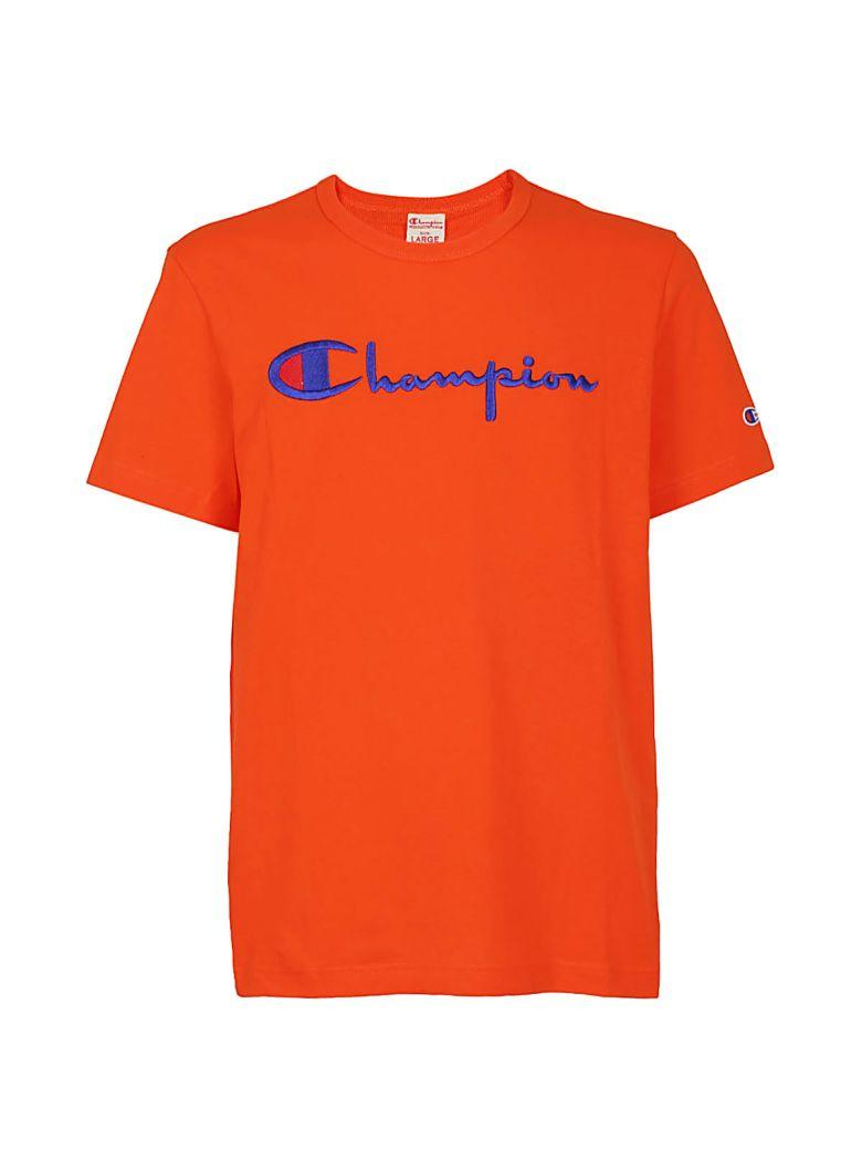 Champion Classic Cotton-jersey T-shirt In Orange