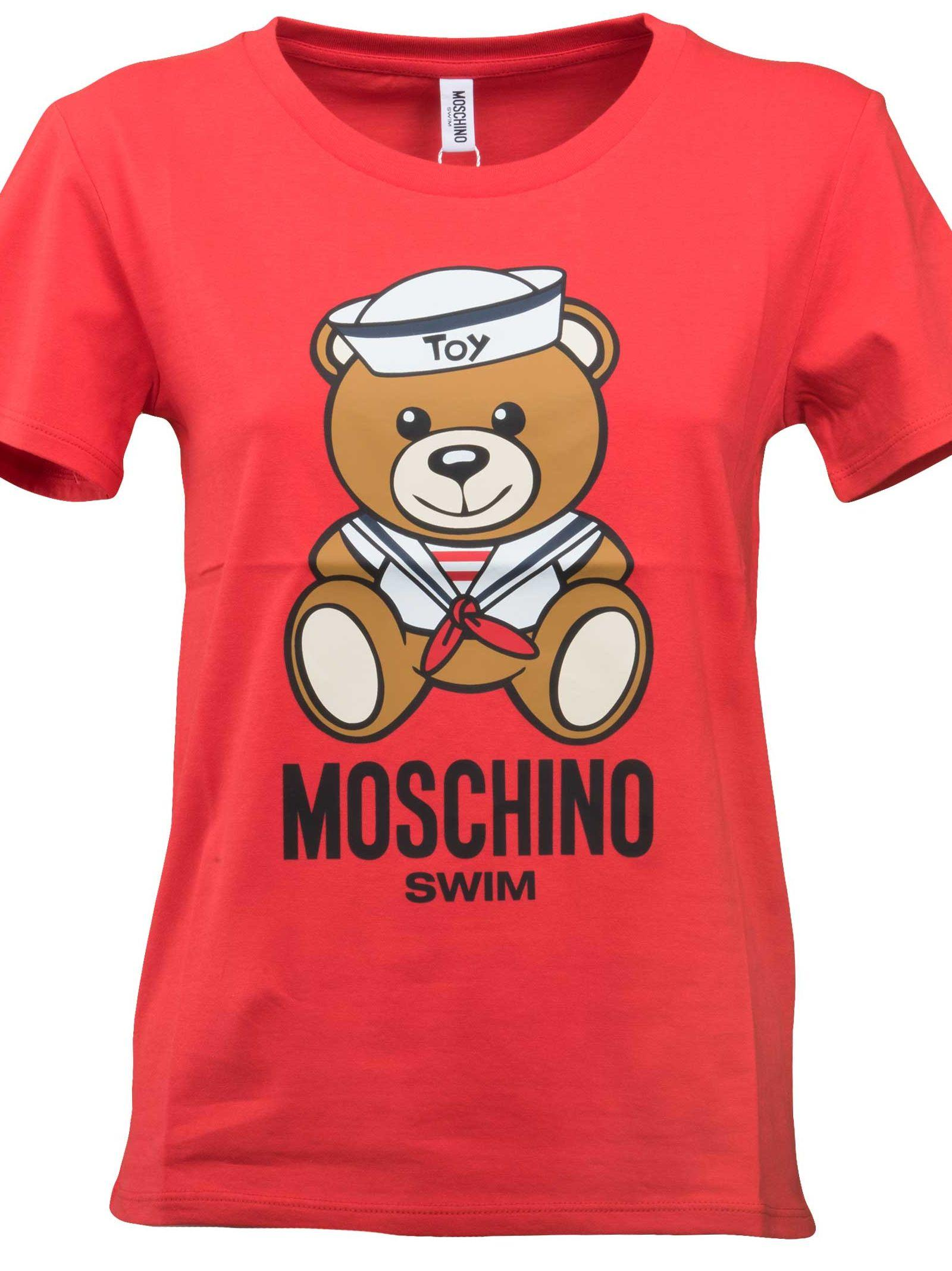 Moschino Sailor Teddy T-shirt In Red