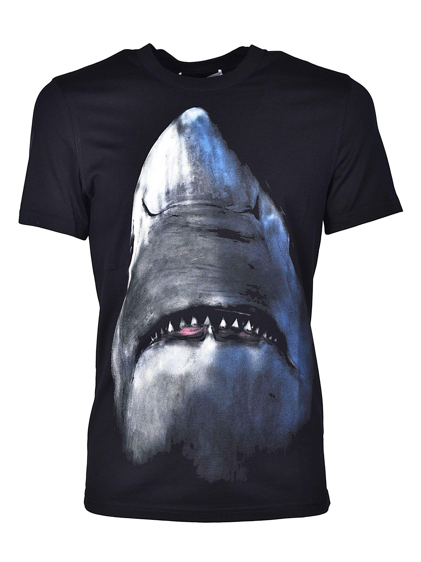 Givenchy Shark Print T-shirt In Black