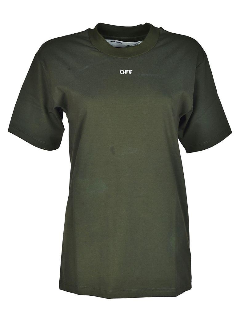 Off-white Fern And Arrows Print T-shirt In Green