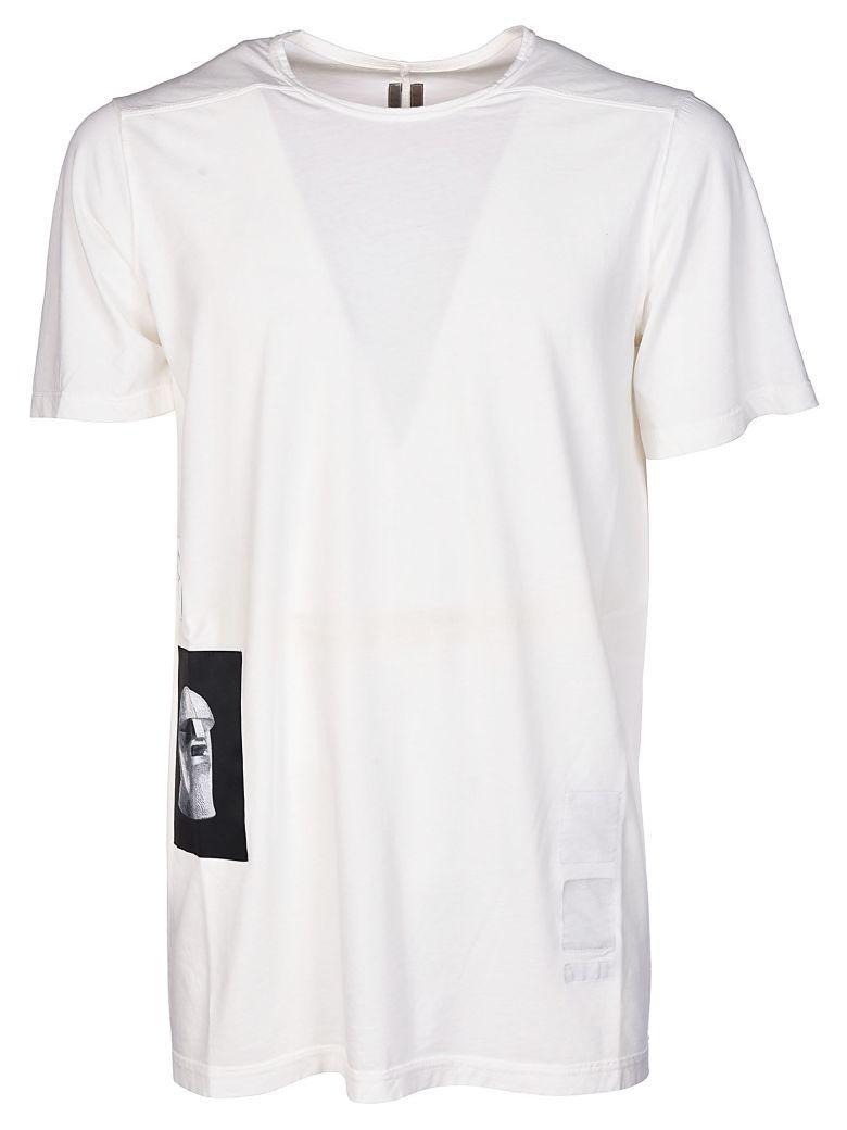Drkshdw Rick Owens  Patch T-shirt In Milk
