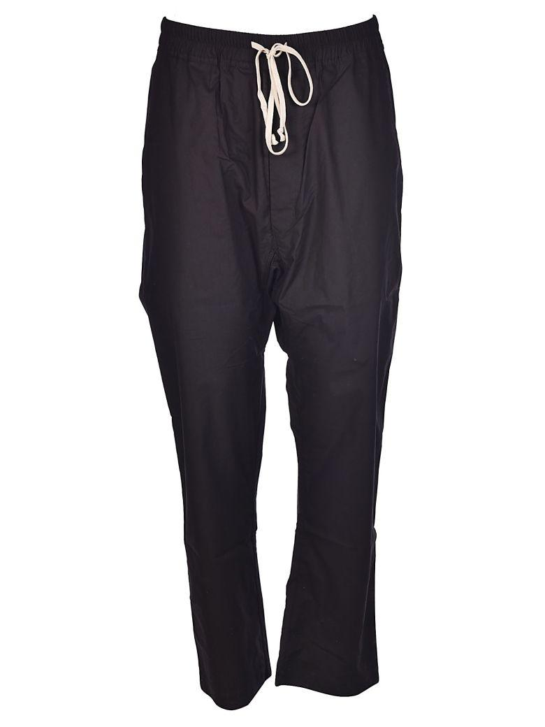 Drkshdw Rick Owens  Drawstring Trousers In Black