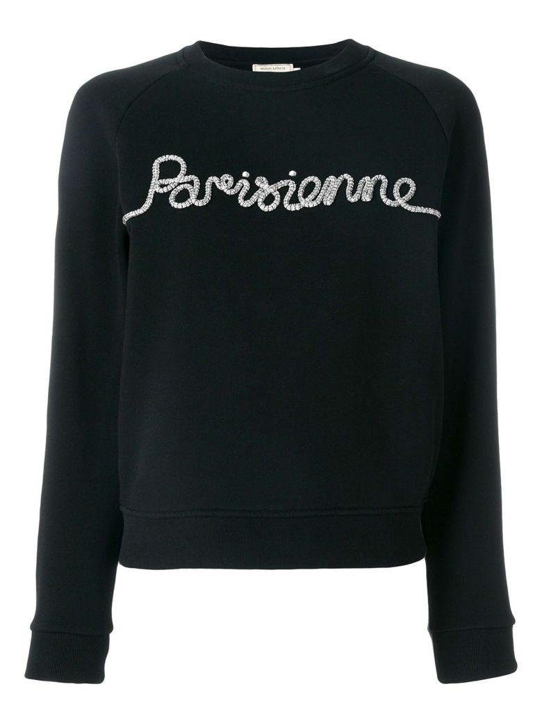KitsunÉ Embroidered Sweatshirt In Black