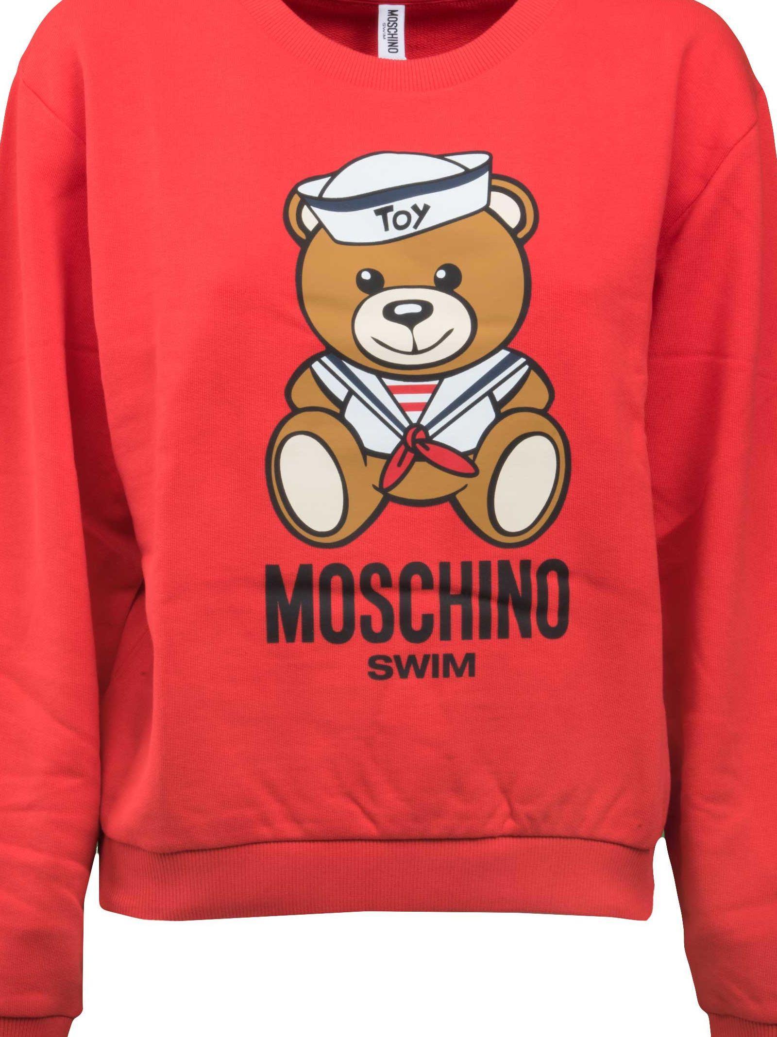 Moschino Sailor Teddy Sweatshirt In Red