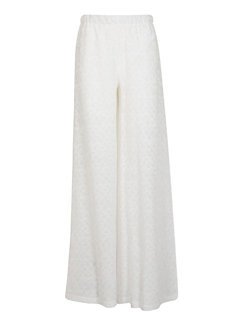 M Missoni Patterned Trousers In White