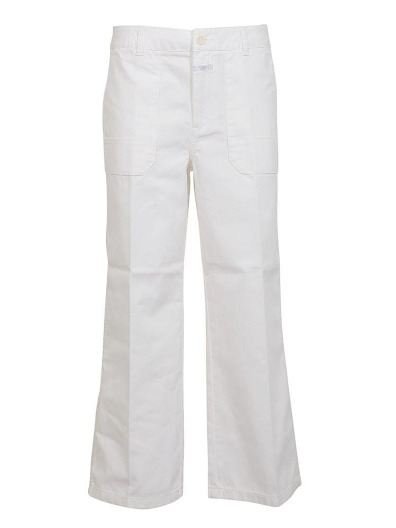 Closed Wide Leg Trousers In White